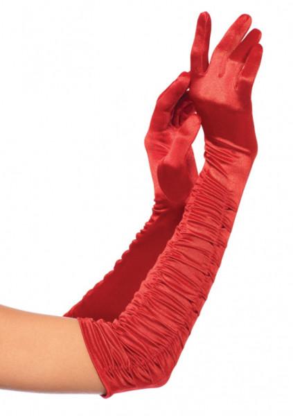 Satin Handschuhe - Ellenbogenlang