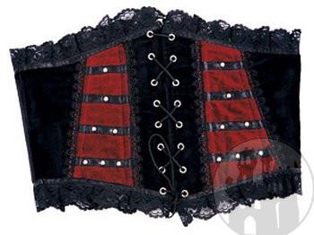 Mittelaltermieder, Gothicmieder, Samtcorsagen, Satincorsagen, Borkatmieder und Spitzenmieder im Darkfashion Shop