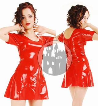 Latex Kleid - kurze