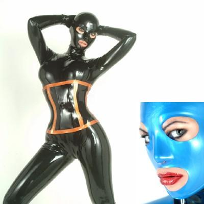 Latex Maske anatomisch mit RV