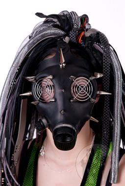 Gasmasken, Cybergasmasken mit Verziehrungen, Cyberhalbmasken, Cybergasmasken