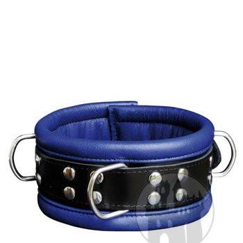 Halsfessel blau mit geschweißten D-Ringen