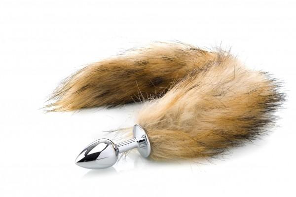 Flauschiger Fuchsschwanz-Analplug - braun