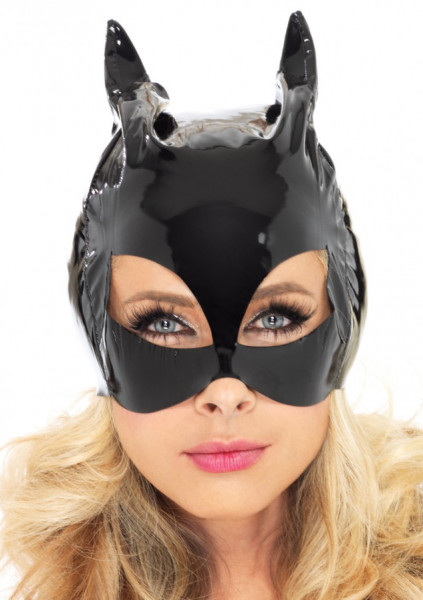 Vinyl Cat Woman Maske
