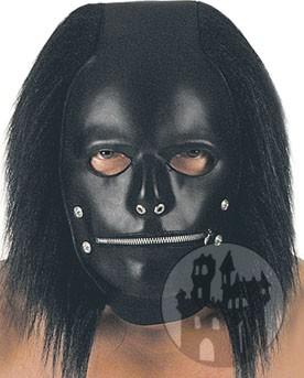 Leder Maske mit Haaren