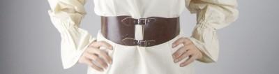 Miedergürtel aus Leder für Frauen