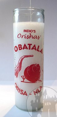 7-Tage Kerze 'Orishas Obatala'