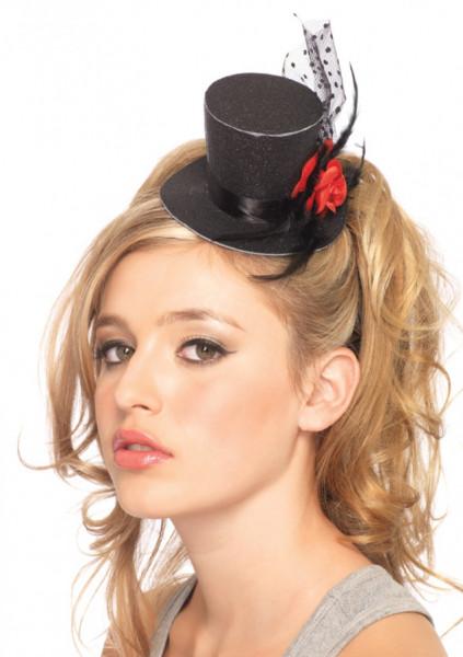 Glitter Mini-Hut mit Rose