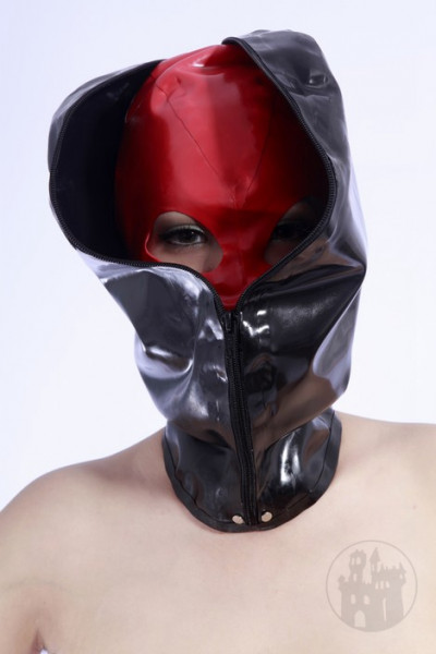 Komplett verschließbare Latex Maske