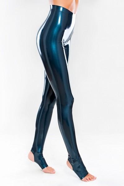 Latex Leggings mit Steigbügeln