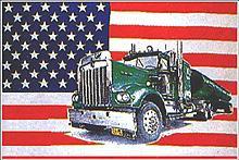 Flagge 'U.S.A. mit Truck'