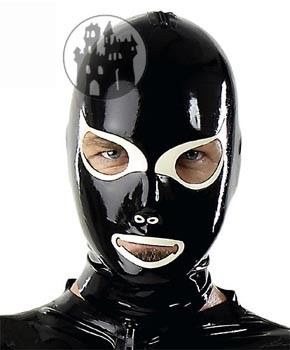 Latex Maske mit Katzenaugen