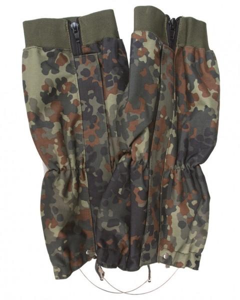 Nässeschutzgamaschen mit Stahlseil 2er-Pack flecktarn