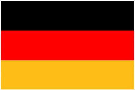 Schwenkfahne mit Holzstab 'Deutschland'