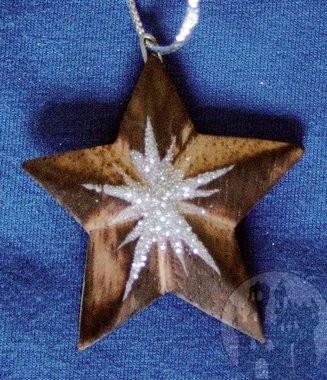 Stern mit Glitzer