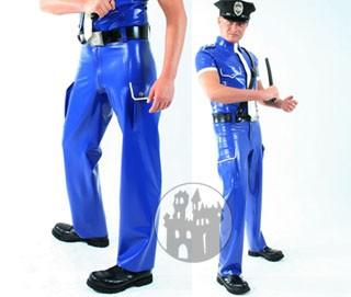 Latex Jeans - Uniform - 2 große Seitentaschen