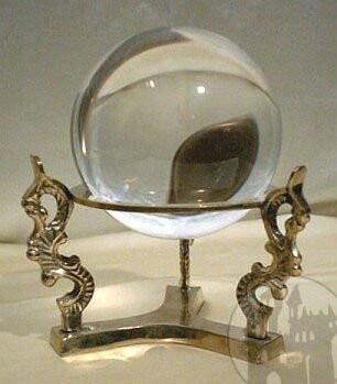 Kristallkugel Hexenmuster klein
