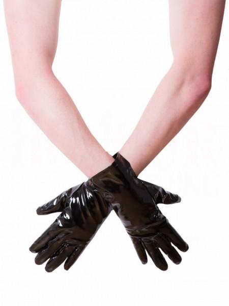 Kurze Lack Handschuhe