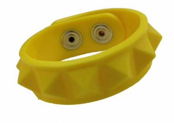 Armband - Nieten - gelb
