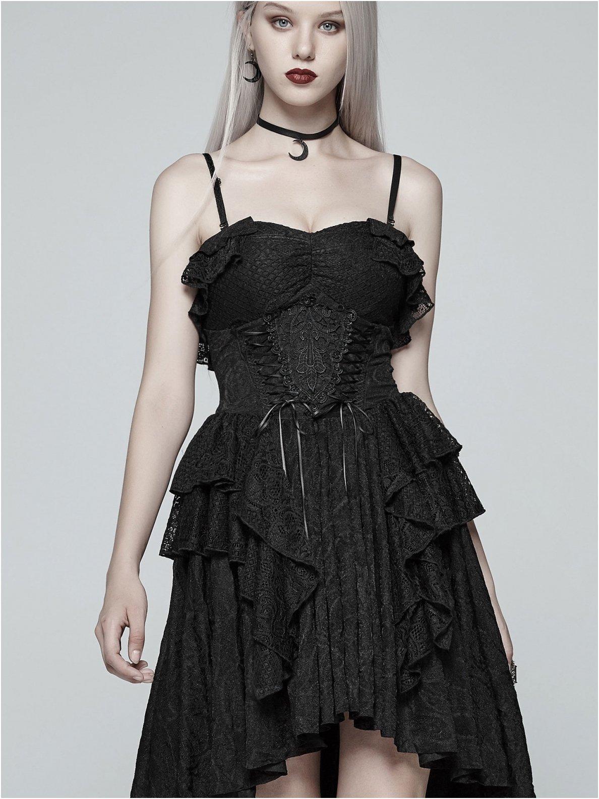 schwarzes kleid mit spitze | kleider - kurz