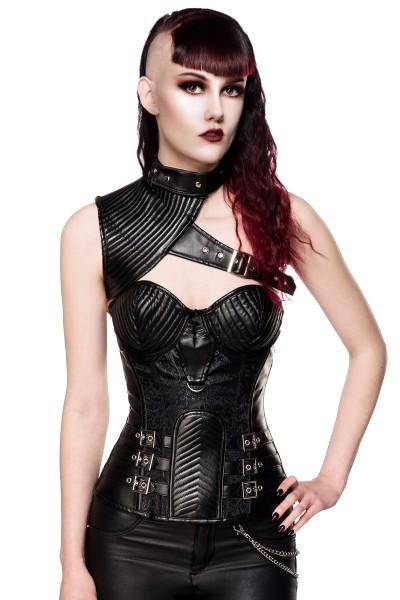 Gothic Corsage mit Schulterteil