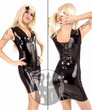 Latex Kleid mit Frontschnürung