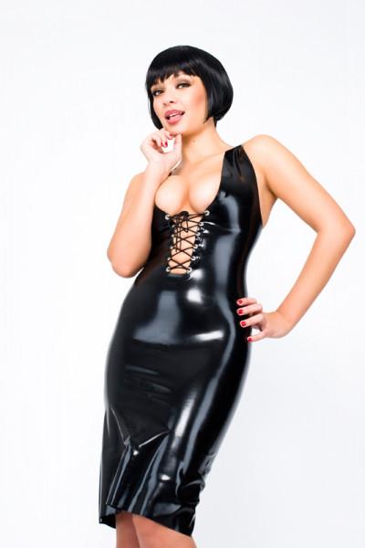 Latex Kleid mit Brustschnürung