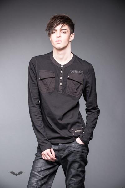 Shirt mit Knopfreihe und Brusttaschen