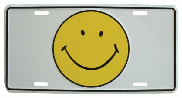 Blechschild Smiley