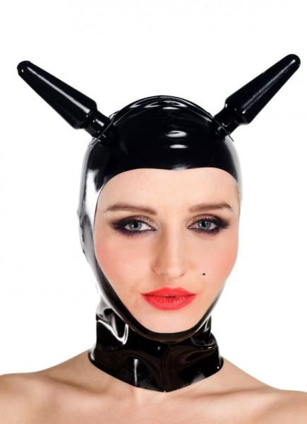Latex Maske - frontfrei mit Dildos