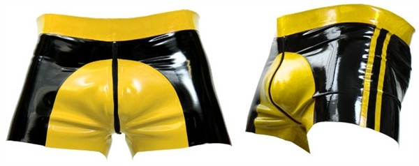 Latex Shorts 'Colorful Saddle' gelb