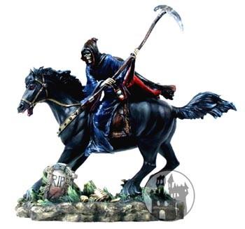 Grim Reaper - schwarzes Pferd und Sense