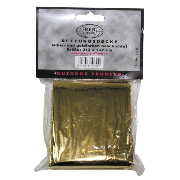 Rettungsdecke silber/gold beschichtet