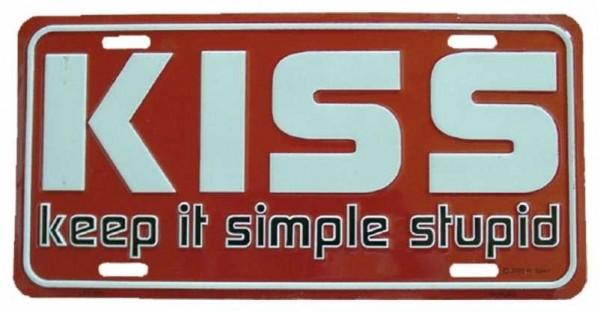 Blechschild Kiss