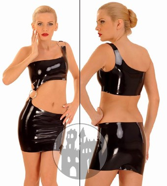 Latex Kleid mit D-Ring