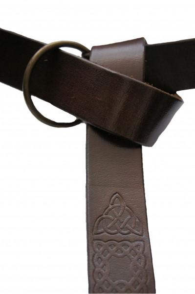 Ringgürtel aus Leder mit keltischem Muster 3