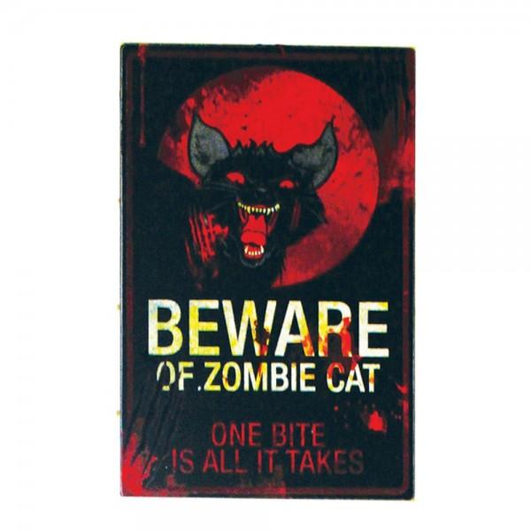 Schild 'Zombie Cat'