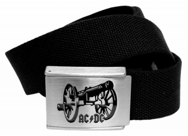 Canvasgürtel AC/DC Kanone