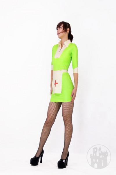 Latex Krankenschwester Kleid