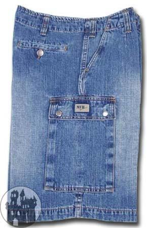 BW Jeans-Bermuda mit Seitentaschen