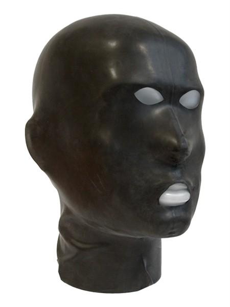 Mister B - Latex Maske mit Öffnungen