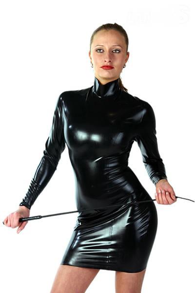 Latex Kleid - Collar - mit Stehkragen
