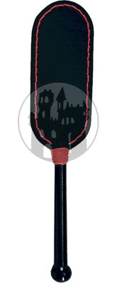 Leder Paddle mit roter Naht
