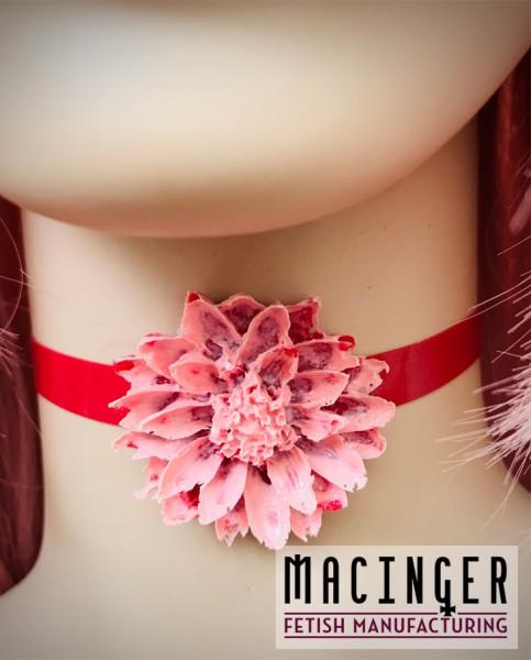 Schlichtes Halsand mit Blumen Applikation 'Floris' - MACINGER -Vorderansicht