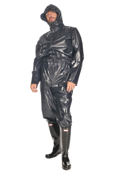 PVC Overall mit Kapuze für Männer