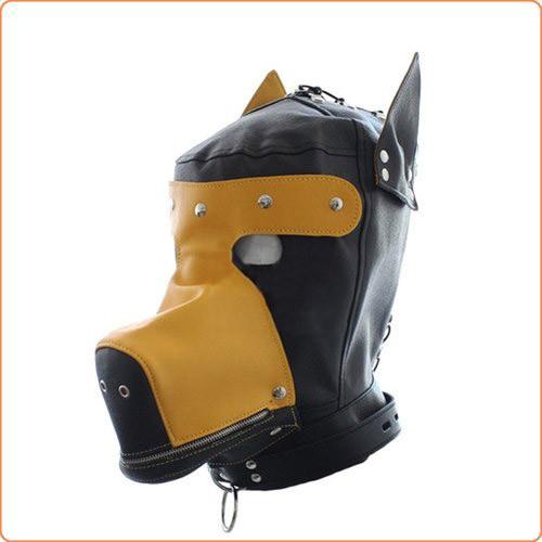 Hunde-Kopfmaske mit Schnürung