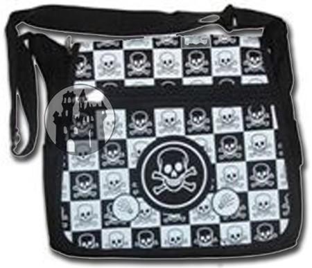 Tasche 'Black N White Skull'