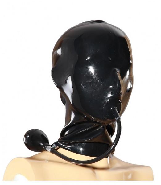 Latex Maske mit Knebel zum aufpumpen