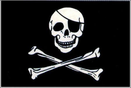 Fähnchen mit Holzstab 'Piraten'