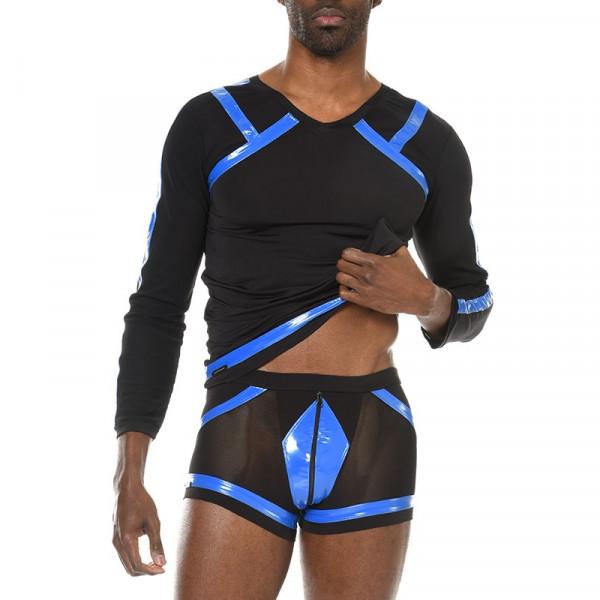 Boxershorts mit blauen Streifen